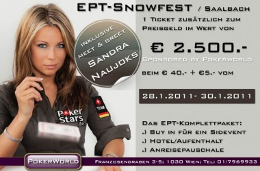 Pokerworld Wien: Ein EPT Snowfest Side Event Package und Meet & Greet mit Sandra Naujoks