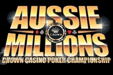 Aussie Millions Main Event etenee toiseen päivään