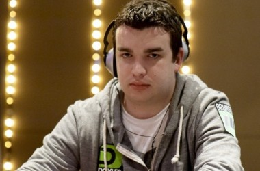 Chris Moorman and James Keys in the Final 18 of the Aussie Millions Main Event