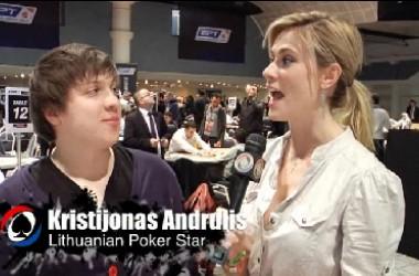 Pokerio video: Globalūs PokerNews kalbina Kristijoną Andrulį - apie EPT Dovilį, Lietuvą ir...