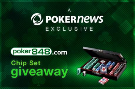 Reģistrējies Poker848 un iegūsti savā īpašumā profesionālu čipu komplektu!