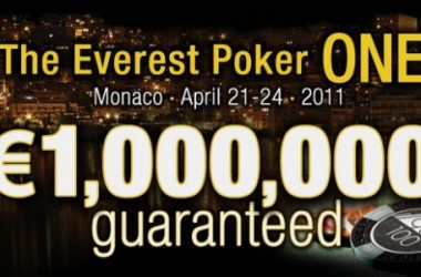 "Kvalificer dig til €1.000.000 Garanteret Turneringen ""Everest Poker One"" i Monaco"