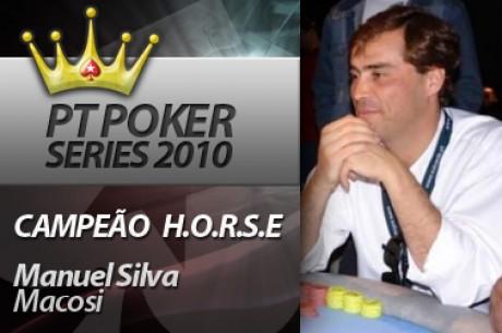 Manuel macosi Silva Vence Main Event H.O.R.S.E PT Poker Series