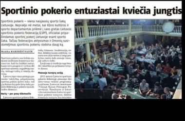 """""""Lietuvos ryte"""" - visas puslapis, skirtas sportiniam pokeriui ir taip pat atskleista..."""