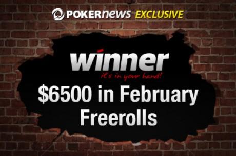 Calificate ahora para el próximo Freeroll de 2.500$ en Winner Poker - Sólo son necesarios 20...