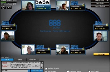 888 Poker Announce PokerCam Tables