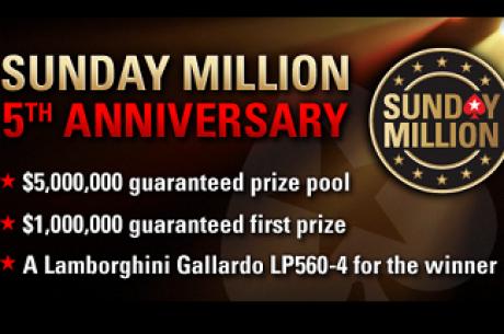 PokerStars $5 Million Sunday Million Jubilæum - Eksklusiv PokerNews Freeroll