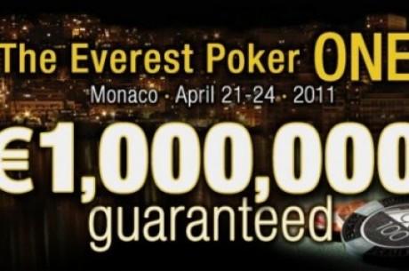 Kvalifikuokitės į €1,000,000 vertės garantuoto prizinio fondo Everest Poker One turnyrą...