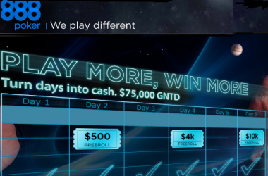 888 Poker Play More, Win More Weekly Freerolls