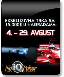 Ekskluzivna trka $15.000 - Race NoIQ Poker-a za Avgust