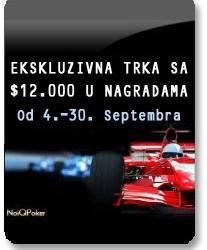 Nova Ekskluzivna trka poena $12.000  na NoIQ Poker-u za Septembar mesec