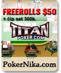 Učestvuj na FREEROLL Turnirima $50 PokerNika.com i osvoji novčane nagrade + set čipova...