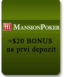 Manison Poker: +20$ automatski na prvi depozit od $20