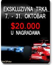 Update: Race PokerNIka.com Oktobra meseca - 20. Okt.