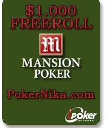 Jfmachado osvojio turnir 1.000$ Freeroll na Mansion Poker-u