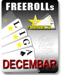 $50 Freeroll na Mansion Pokeru - Nedelja 14.  - LIGA Meseca za Decembar