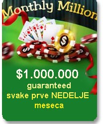 PartyPoker Monthly Million - $1.000.000 Guaranteed svake prve Nedelje u mesecu