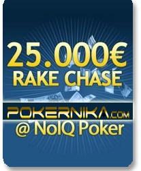 25.000€ RAKE CHASE - ekskluzivna trka PokerNika.com na NoIQ Poker-u