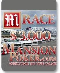 Ekskluzivna trka za članove PokerNika.com na Mansion Pokeru, gde će se podeliti $3.000 u samo...