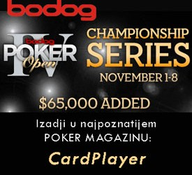 Bodog Poker Open IV u Novembru