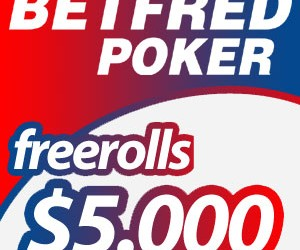 $5.000 Freerolls na Betfred Poker-u