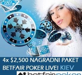 Betfair Poker Live - Kiev prvi domaćin nove evropske poker ture