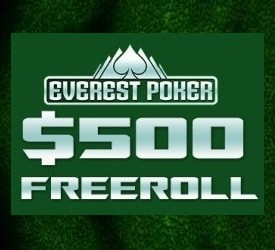 Igraj naše ekskluzivne $500 Cash Freeroll Turnire na Everest Pokeru!