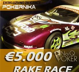 Rake Race PokerNika za Decembar i €5.000 ekskluzivno - NOIQ nudi još €250.000 tokom celog...