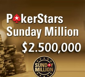 PokerStars daje $1 Milion pobedniku Sunday Million Turnira
