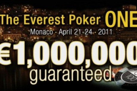 Qualifica-te para o Everest Poker One com €1.000.000 Garantidos no Mónaco