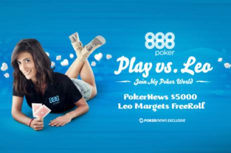 El freeroll de 5.000$ de Leo Margets en Poker 888: gran overlay en el Evento 1
