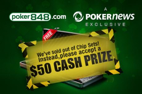 Gratis $50 i bonus hos Poker848