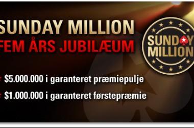 Sunday Million Jubilæum Startet - 8,8 Millioner DKK Til Vinderen