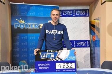 Javier Muiños es el campeón de la tercera etapa de la Liga poker770 La Toja
