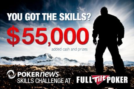PokerNews $55,000 Skills Challenge turnīru līga Full Tilt poker istabā!