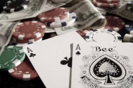 Hráč si značil karty šmirglpapírem