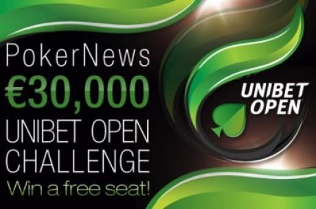 PokerNews piedāvā bezmaksas Unibet Open turnīru sēriju!