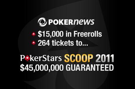 PokerNews $15,000 em Satélites Freeroll SCOOP + Bónus Recarga