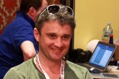 Leonid Bilokur, chip leader del Día 1a del European Poker Tour San Remo