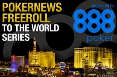 Mängi 888 Pokeri freerollidel ning võida WSOP pakett