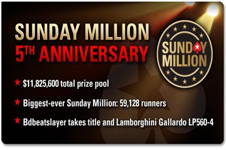 Escándalo en PokerStars tras el quinto aniversario del Sunday Million