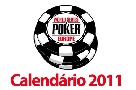 Calendário World Series of Poker Europe 2011