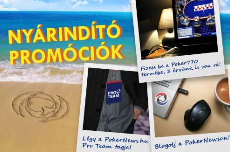 3 nyárindító akció csak magyaroknak: blogolj, nyerj duplán, vagy légy a profi csapatunk...