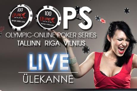 Olympic-Online Poker Series Live turnīri Rīgā, Tallinā un Viļņā!