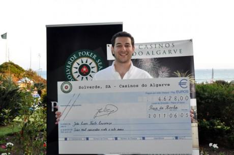 Solverde Poker Season #6: João Lourenço é o Vencedor