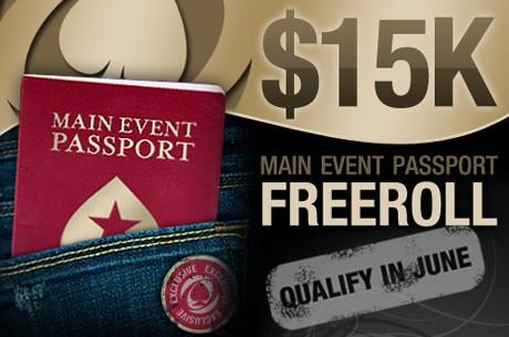 Siste mulighet til å spille Main Event Passport Freeroll
