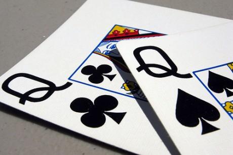 Анализ на покер ръка: Трудно плащане с дами преди...