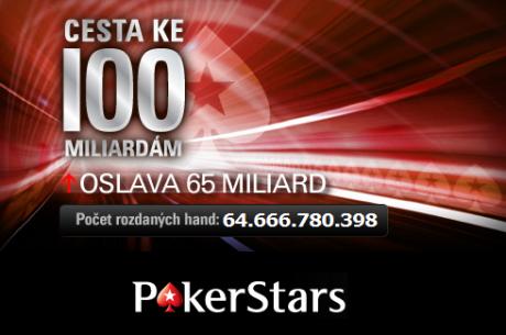Hranice 65 miliard hand na PokerStars je pokořena!