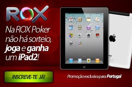 Ganha um iPad2 com a Rox Poker, Exclusivo para Portugal