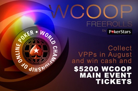 Pēdējā diena lai kvalificētos WCOOP freeroll turnīriem!